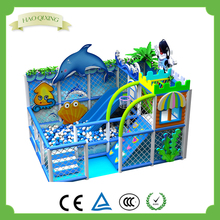 Small ocean ball indoor amusement park equipment / children business naughty castle for sale