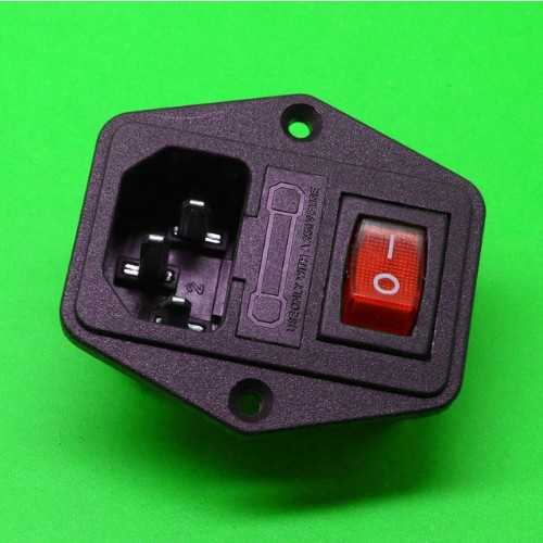 power socket With fuse holder Triple It can be equipped with switch With screw holes