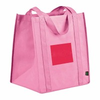 Pink printed logo recycled promotion promotional shopping bag