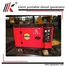 long lifespan low price 6kva mobile power station trailed mounted silent type 6kva small portable diesel generator