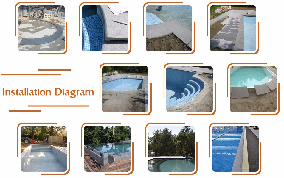 Hot Selling  Natural Stone White Sandstone Swimming Pool Tiles And  Borders