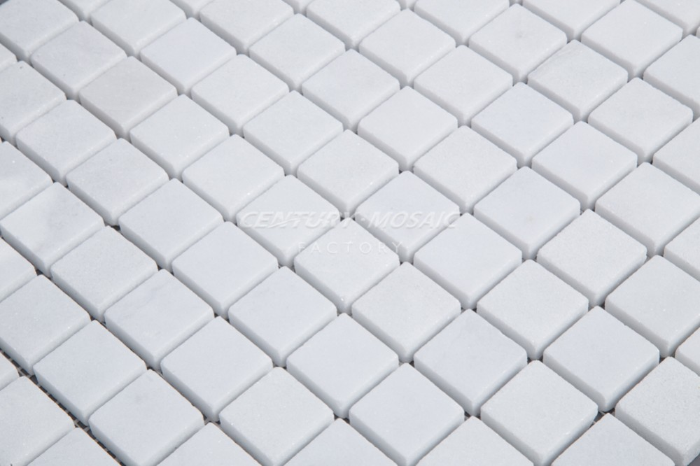 Venus White Marble Square Mosaic Pool Tiles