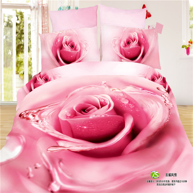 Top quality 3D reactive printed pure cotton full bedding bedclothes 100% cotton duvet cover set bedding sets Any Size