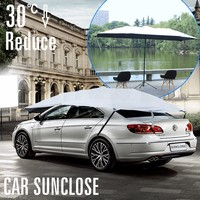 SUNCLOSE Factory motor driven car electric sunshade electric car sun shade ruffle umbrella