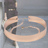 ZH1225A New fashion gold metal decorative wide belts for women