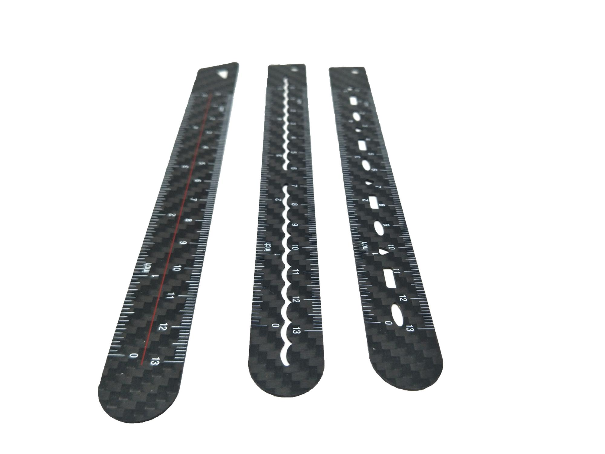 Customize high quality carbon fiber ruler for gifts