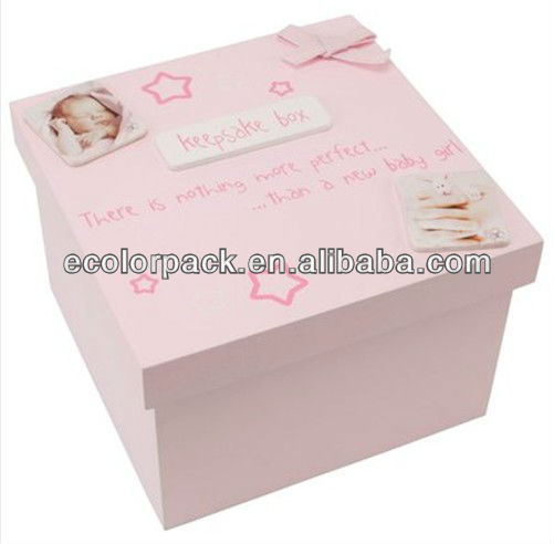 wooden keepsake box for new born baby wholesale
