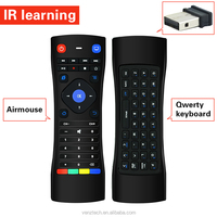 2.4G air mouse RF remote control with keyboard for PC,Smart TV and Android System