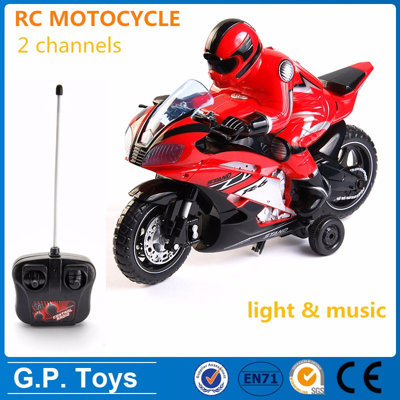2 channels rc car wholesale rc motorcycle with light & music
