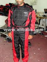 Black,Red And White Kart Racing Suit