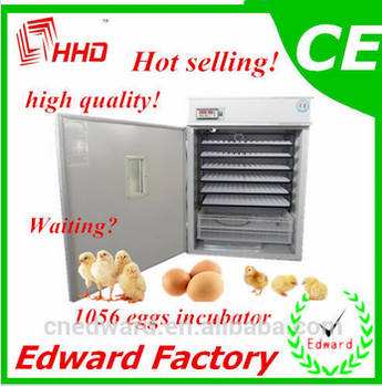 HHD Commercial automatic chicken egg incubator hatching 1056 chicken eggs machine