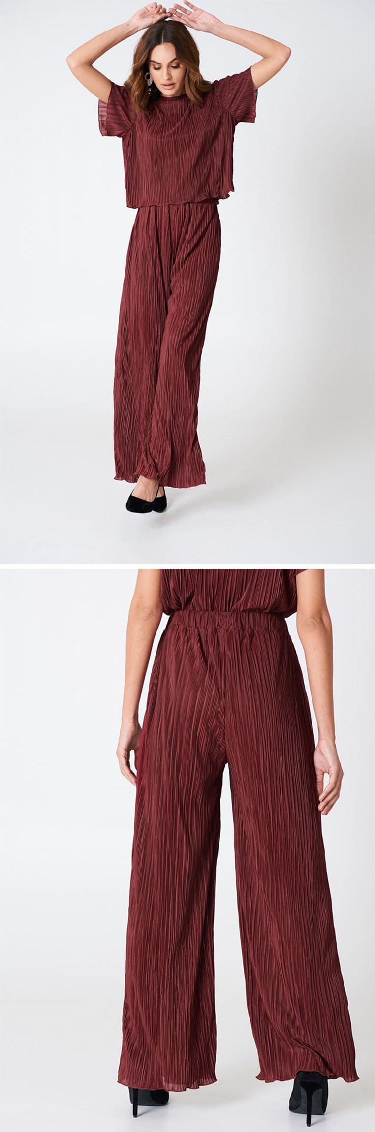 Fashion Clothing For Women 2018 Pleated Wide Leg Pants