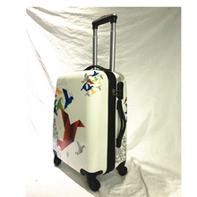 ABS/PC Trolley luggage set, hard suitcase with paper plane printed