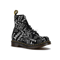 Black letters Martin boots tube couples in men's and women's shoes online customization