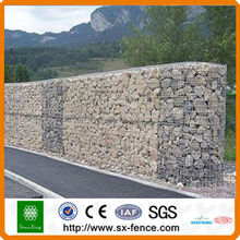 shunxing galvanized and pvc coated gabion box/gabion basket/mesh