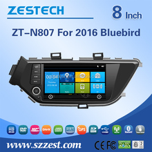 8 inch 2 din in-dash car dvd player for Nissan Lannia 2016 Bluebird/Sylphy car sat navi with car central media 3G Wifi Bluetooth