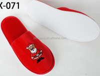plush Santa claus Christmas novelty slippers