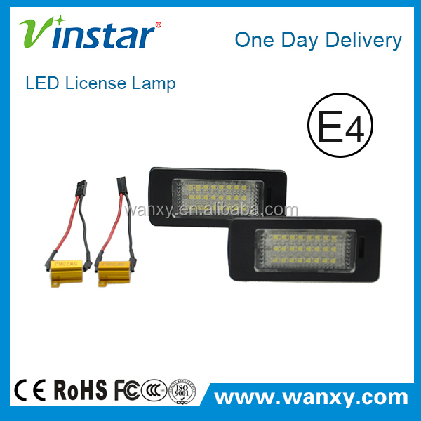 Canbus LED License lamp For SKODA Octavia/ Rapid LED License Plate Light auto car License lamp 18 SMD Auto LED Light