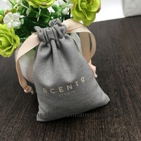 Plain Cotton Linen Bag For Jewelry