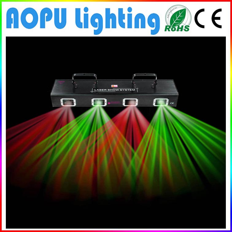 300mW 4 lens Dmx DJ Laser Light Red Green For Sale