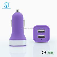 Smart Dual USB car charger for mobile phone cigarette lighter car socket