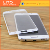 Wholesale full body 3d curved tempered glass screen protector suitable for samsung s6 edge