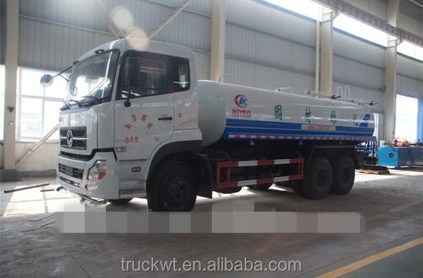 DongFeng Water tank truck 15000 liters/6X4water tender trucks for sale/ 270hp water bowser vehicle/used water tank trucks