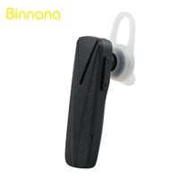 Newest Design Super Mini Wireless Single Ear Bluetooth Headset with Selfie Remote