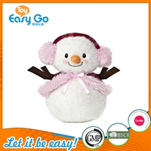 Hot Selling Custom Snowman Lady Soft Toy