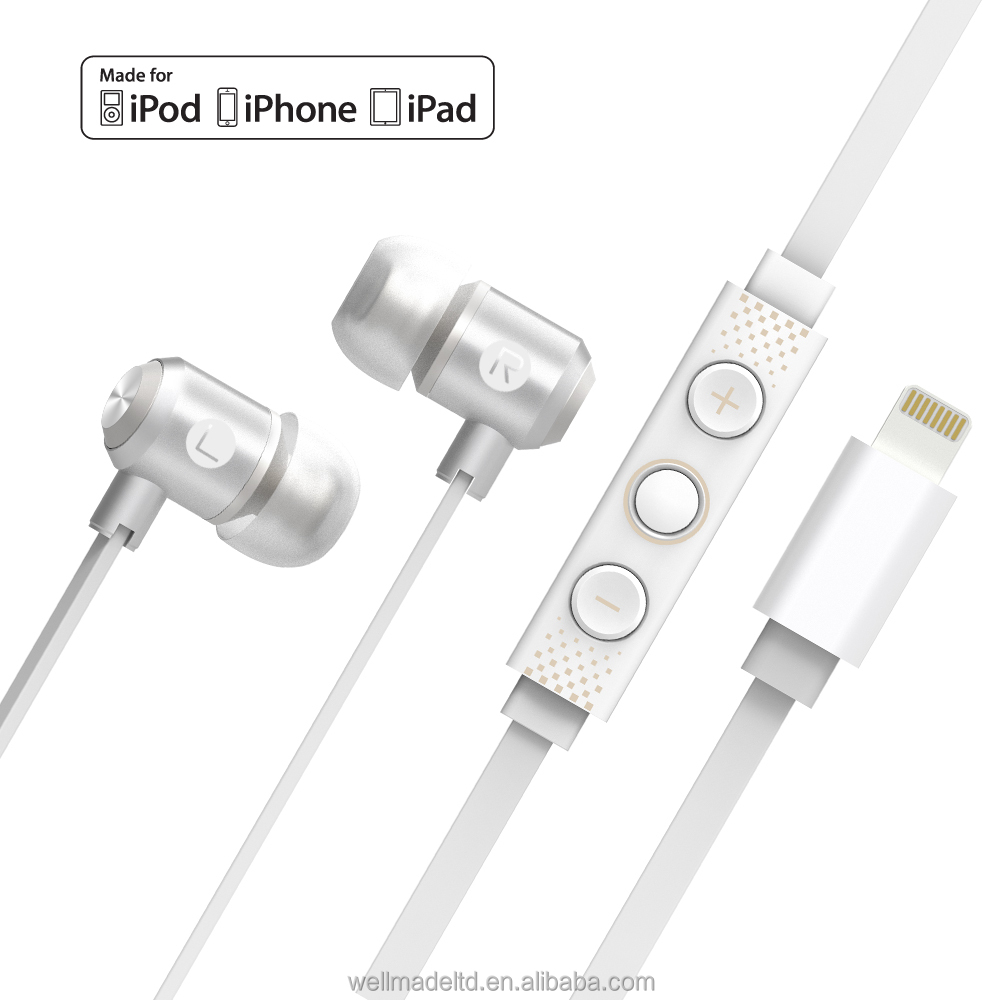 Omars MFi earphone and headphone with controller for iPhone iPad iPod
