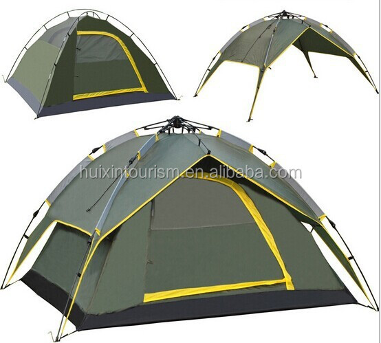 Luxury automatic double layer camping tent for 3-4 persons