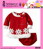 Custom Hot Cotton Keep Warm Clothes Wholesale High Quality Flower Girls Christmas Kids Clothes