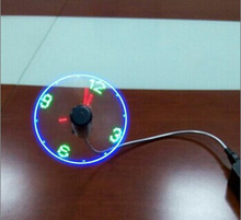 Hot sale mini usb cooling fan with led clock