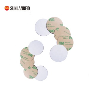 Free Samples 13.56mhz Passive Rfid NTAG213 / NTAG215 NFC Label Sticker Tag with Rewritable