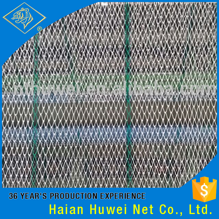 Double raw material polyethylene used fishing nets for for Fishing net for sale