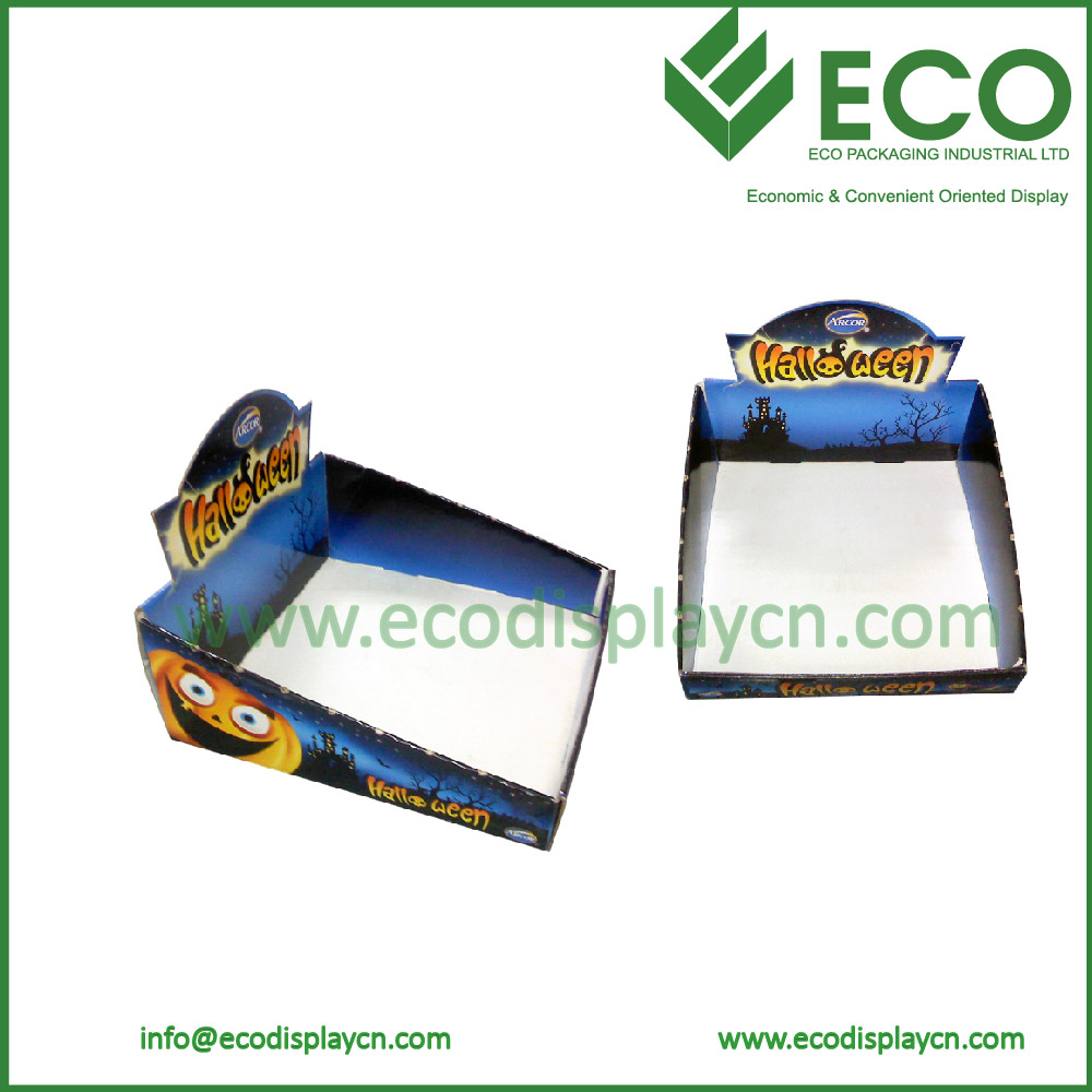 Hot sales and OEM corrugated counter top display for retail store