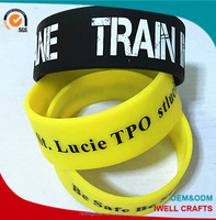 custom design printing silicon hand band,personalized 1 inch silicone hand bands