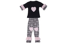 Kids frocks designs new arrival ruffle boutique clothes sets spanish baby clothing