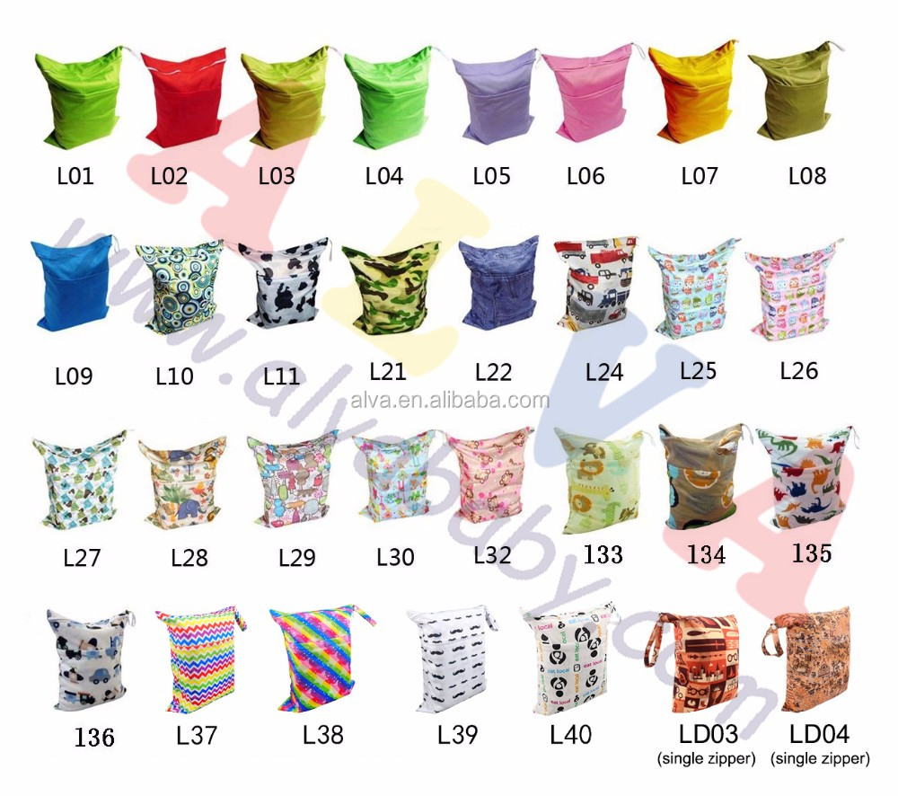 Cute Cloth Diaper Bag For Baby Nappy Wet Bag Wholesale Dry Bags