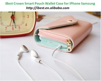 iBest Korea Crown Smart Pouch,Cell Phone Smart Pouch for iPhone for Samusung Phones,13 colors in total In stock Factory