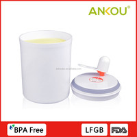 Hight quality anti-uv radiation round shape plastic locking water proof storage container