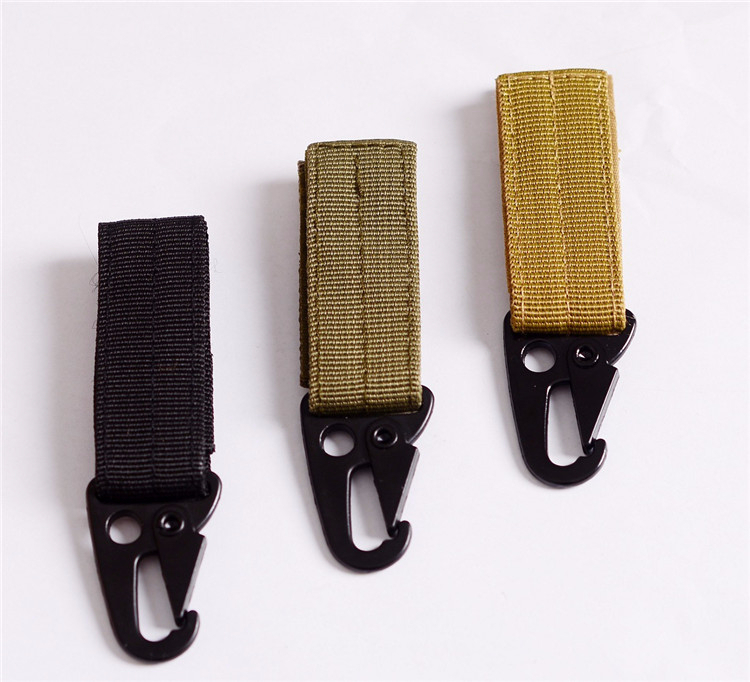 High Quality MOLLE Nylon Webbing Buckle Clasp Hiking Backpack Buckle Olecranon Hook Camping Survival Gear