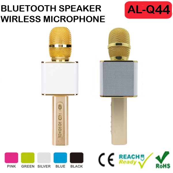 2016 New Product Alibaba Top Selling Karaoke Microphone Bluetooth Wireless Microphone Dynamic Capsule Family Party Output
