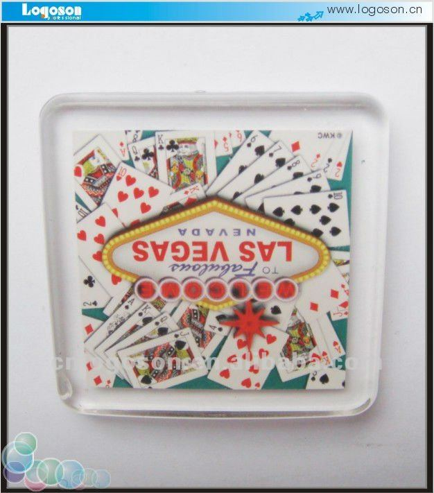 company advertising gift Las vegas printing acrylic fridge magnet