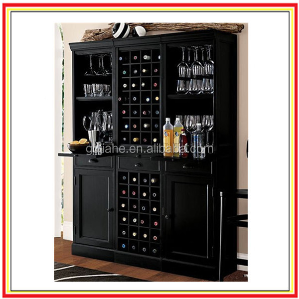 black lacquer Wine And Liquor Cabinet
