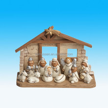 4 inch Kids Cute Resin Christmas Nativity Set