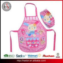 Customized cheap children waterproof kids apron for painting
