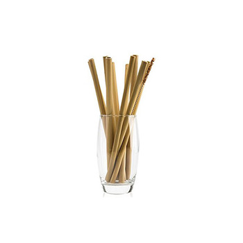 Factory direct supply eco friendly reusable smoothie bamboo drinking straws reusable edible