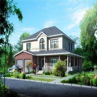 China luxury prefabricated houses prices low cost prefab villa modular homes