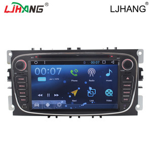 2din 7inch Quad-Core Android 6.0system Car DVD Player GPS Navigation Steering-Wheel For ford 2009 Fo cus s-max